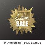 autumn border banner with hand... | Shutterstock .eps vector #1433122571