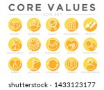 company core values round flat... | Shutterstock .eps vector #1433123177