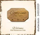 come inn. vintage banner.... | Shutterstock .eps vector #143313319