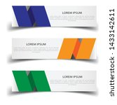 vector abstract banner design... | Shutterstock .eps vector #1433142611