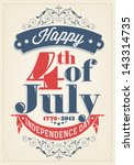 vintage style independence day... | Shutterstock .eps vector #143314735