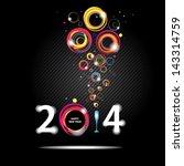 new year 2014 in black... | Shutterstock .eps vector #143314759