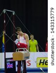 Small photo of ANADIA, PORTUGAL - JUNE 21: Max Whitlock (GBR) during the Art Gymnastics FIG World Cup Challenge on june 21, 2013 in Anadia, Portugal.