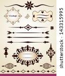 vintage text dividers  frames ...   Shutterstock .eps vector #143315995