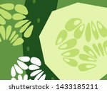 abstract vegetable design in... | Shutterstock .eps vector #1433185211
