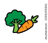 cartoon broccoli and carrot... | Shutterstock .eps vector #1433193341