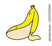 cartoon peeled banana vector... | Shutterstock .eps vector #1433193344