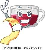 with menu hibiscus tea is... | Shutterstock .eps vector #1433197364