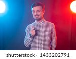 young handsome bearded hipster... | Shutterstock . vector #1433202791