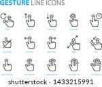 set of gesture icons  such as... | Shutterstock .eps vector #1433215991