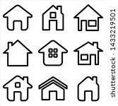 set of home icon. symbol of...