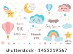 baby shower elements cute... | Shutterstock .eps vector #1433219567