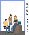 office work poster with text... | Shutterstock . vector #1433225651