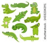 Crocodile Vector Cartoon...