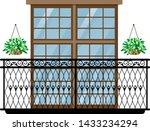 balcony vector vintage... | Shutterstock .eps vector #1433234294