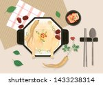 korean traditional food... | Shutterstock .eps vector #1433238314