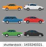 set of colorful passenger car... | Shutterstock .eps vector #1433240321