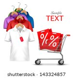 clothes hanger with shirts with ...   Shutterstock .eps vector #143324857