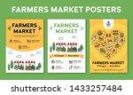 farmers market design poster... | Shutterstock .eps vector #1433257484