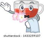waiter rosehip tea isolated... | Shutterstock .eps vector #1433259107