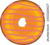 donut vector illustration 3d... | Shutterstock .eps vector #1433260427