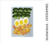 isolated vector food images.... | Shutterstock .eps vector #1433269481