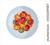isolated vector food images.... | Shutterstock .eps vector #1433269487