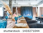 luxury dinner banquet in the... | Shutterstock . vector #1433271044