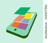 flat design smartphone...