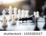chess leadership and success... | Shutterstock . vector #1433283317