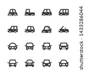 car vehicle icon set.vector... | Shutterstock .eps vector #1433286044