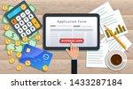 online business loan or lending ... | Shutterstock .eps vector #1433287184