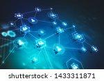 light blue social network...   Shutterstock . vector #1433311871