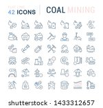 set of vector line icons of... | Shutterstock .eps vector #1433312657