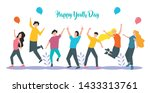 group youth people together... | Shutterstock .eps vector #1433313761
