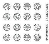 landscape thin line icon set... | Shutterstock .eps vector #1433329301
