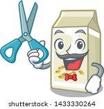 barber soy milk in a cartoon box | Shutterstock .eps vector #1433330264
