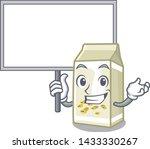 bring board soy milk in a... | Shutterstock .eps vector #1433330267