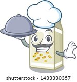 chef with food soy milk in the... | Shutterstock .eps vector #1433330357
