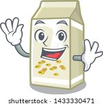 waving soy milk isolated with... | Shutterstock .eps vector #1433330471