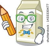 student soy milk isolated with... | Shutterstock .eps vector #1433330477