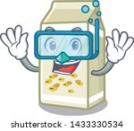diving soy milk isolated with... | Shutterstock .eps vector #1433330534