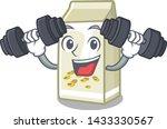 fitness soy milk in a cartoon... | Shutterstock .eps vector #1433330567