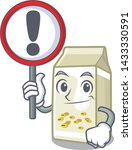 with sign soy milk in a cartoon ... | Shutterstock .eps vector #1433330591