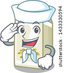 sailor soy milk in a cartoon box | Shutterstock .eps vector #1433330594