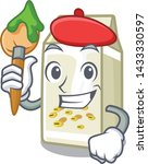 artist soy milk in a cartoon box | Shutterstock .eps vector #1433330597