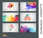 vector abstract hand drawn set... | Shutterstock .eps vector #143334775