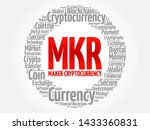 mkr or maker cryptocurrency... | Shutterstock .eps vector #1433360831