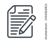 writing line icon. paper... | Shutterstock .eps vector #1433362811