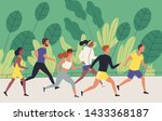 men and women dressed in... | Shutterstock .eps vector #1433368187
